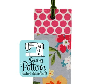 Fabric Bookmark PDF Sewing Pattern | DIY handmade cloth fabric book marks pattern. Quick and easy sewing project tutorial for fabric scraps.