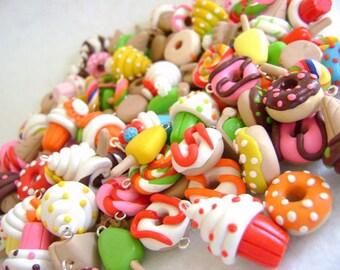 25 Polymer Clay Food Charms