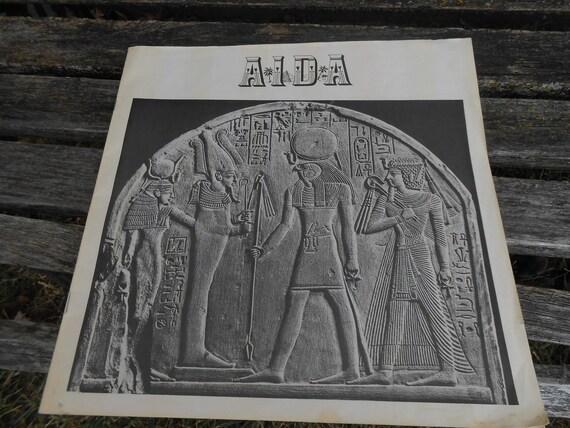 Vintage AIDA Opera Book. Verdi 1974 Record Book. Collectable, Music.