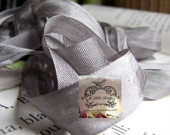 Rayon Seam Binding Ribbon Smoke Grey