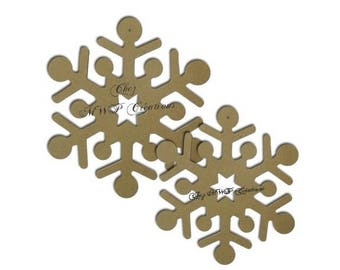 Snowflakes (set of 2:19 and 22cm) MDF