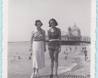 The Pier - Vintage Seaside Snapshot Photo