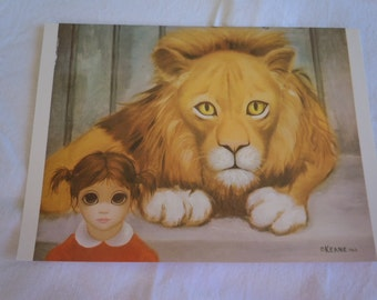 "Vtg ""BIG EYES"" Lot of #20 Cards Margaret Keane"" Blank Cards   ""The Lion and the Child""  New Old Stock 5"" x 7"""