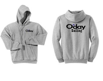 Oday Sailboats Ash Grey Hoodie Sweatshirt
