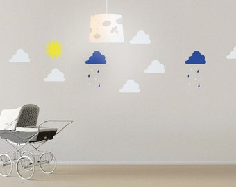 Weather | Sun, Clouds and Rain. Wall Decal