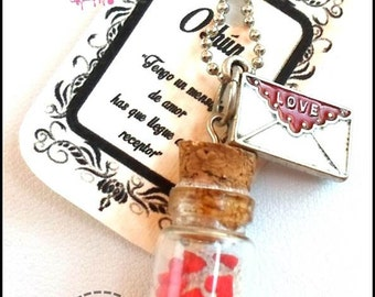Amulet of love Valentine hearts, love letter