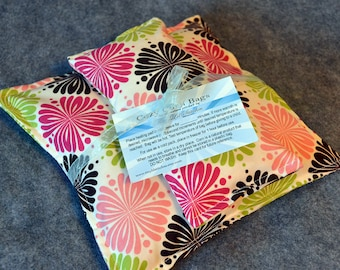 Corn Heating Pad Set, Microwave Heat Pack, Cold Pack, Corn Bag Microwavable, Pain Relief, Gift for Her -- Whimsy, Gift Set - LAST ONE