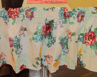 Pioneer Woman *Country Garden* Kitchen Valance Curtain Handmade 60 X 16 ~ Tablecloth