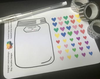 Weight Gain Planner Stickers