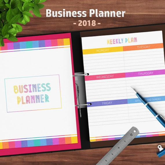 business planner organizer 2018 orders contacts weekly