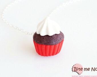 Mini Cupcake Necklace - Cupcake Charm, Cupcake Jewelry, Mini Cupcake, Miniature Food, Polymer Clay Sweets, Kawaii Jewelry