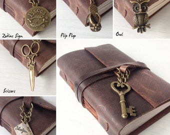 Charm add on for leather journal orders