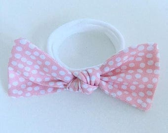Pink Droplet bow