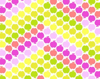 Greenhouse Flannel Apple Chevron Citron Fabric, 1 yard