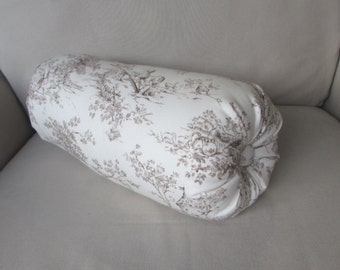 TOILE CENTRAL PARK chocolate lumbar throw Bolster Pillow 6x14 6x16 6x18 6x20 6x22