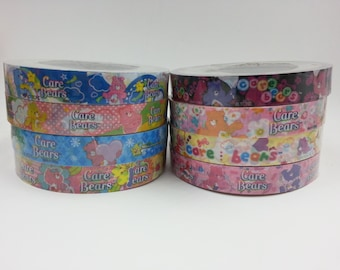 Full Collection of Japanese Care Bear 15mm Medium Deco Tape - 8pcs set