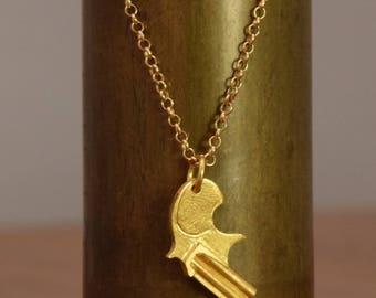 Gold Pistol Necklace, Sold Gold Gun & Chain, Revolver necklace, 18k Gold Gun Pendant, Man Gold Necklace, Pistol Pendant, 14k pistol pendant