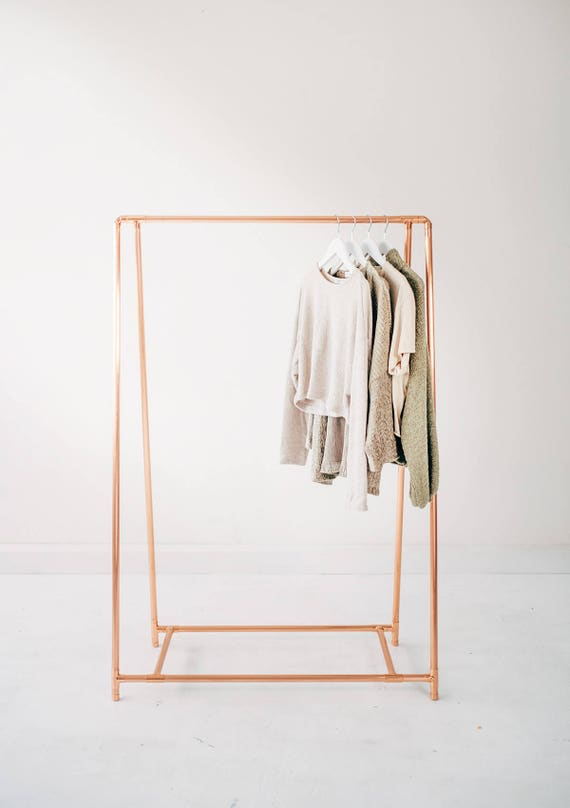 Copper Pipe A Frame Clothing Rail / Garment Rack / Clothes
