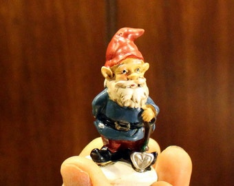 Gnomes-4 assorted styles-Small Garden gnome-Resin gnome-fairy garden decor-Terrarium supplies