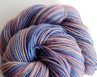 Hand dyed yarn, FREE SHIP, superwash merino sock, indie dyed, artisan dyed, merino sock yarn, Victorian Mourning