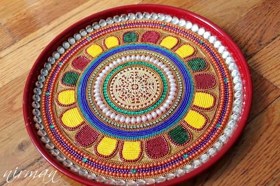Pooja thali decorative henna mehndi peacock design junglespirit Image collections