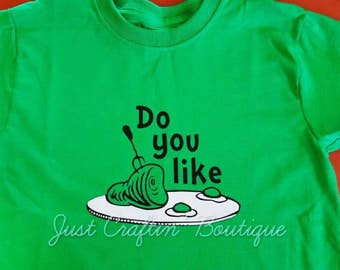 Do you like green eggs and ham adult tee