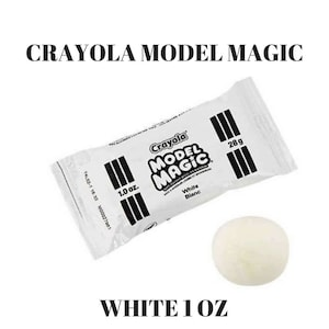 Model Magic Crayola Clay White Polymer Butter Slime Supply 1 oz Slime Supplies Super Soft Lightweight Kids Crafts Dough Educational Toy