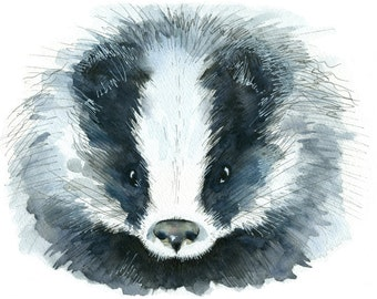 Limited edition print - Badger