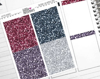 """28 Headers - """"Anything Can Happen"""" Glitter Series Stickers - Glitter Header Planner Stickers"""