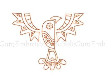 Redwork Native Eagles Embroidery Designs Instant Download