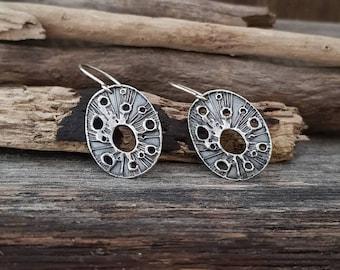 Sterling silver dangle earrings / boho earrings / galaxy dangle earrings / everyday silver earrings / valentine's day gift / gift for her
