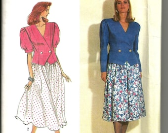 Simplicity 7369 vintage uncut size 10 - 18 womans skirt and blouse