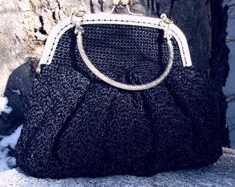 Black Knitted Clutches