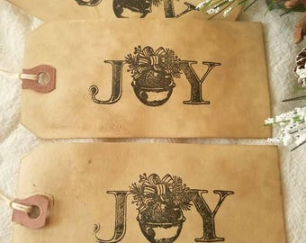 Vintage Inspired Gift Tags, Shipping Tags, Coffee Stained Gift Tags, Rustic Christmas Tags,  SET OF SIX