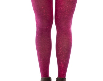 Limited edition, pink cotton tights printed in a splash, one size