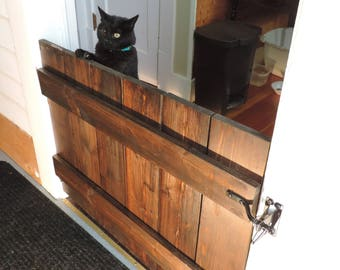 Pet gate for cats, many colors and sizes, pet gate, latch and hinges included.