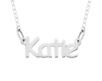 Sterling Silver 925 Personalised Kids Name Necklace - Any Name