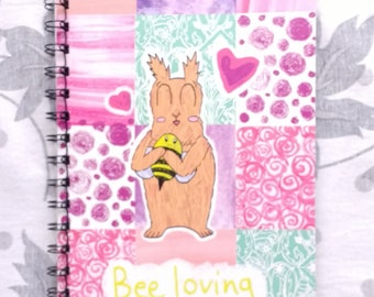 Bee loving A5 notebook