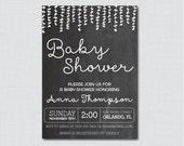 Chalkboard Baby Shower In...