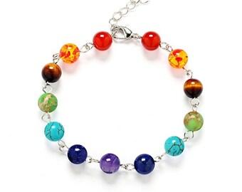 Chakra Gemstone Bracelet