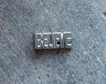Floating Charm For Glass Memory Lockets- Believe