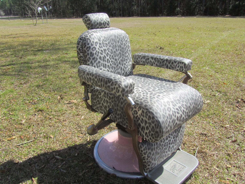 🔎zoom - Vintage Barber ChairBarber Chair Hair Salon Furniture Retro