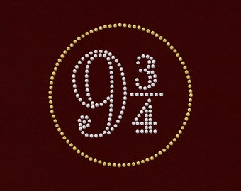 Rhinestone 9 and 3/4 Platform Sign SVG Template