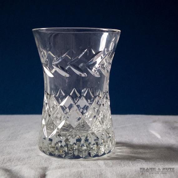 Vintage Cut Glass Vase Cocktail Stick Holder Small