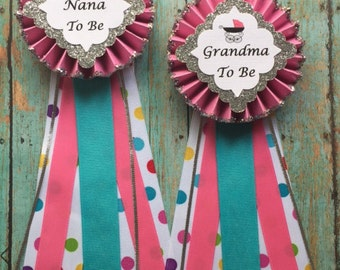 Baby Shower Corsage... Baby Shower Pin... Girl Baby Shower... Mom to Be Corsage... Free Customization