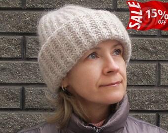 Slouchy beanie Hand knitted beanie Knit beanie Winter knit hat Winter knit slouchy hat Chunky slouchy hat Slouchy beanie Premium alpaca