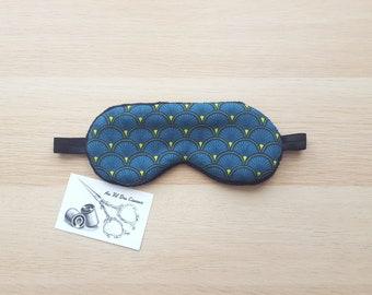 Sleeping mask / / sleep mask / / sleep accessory / / accessory sleep - peacock blue