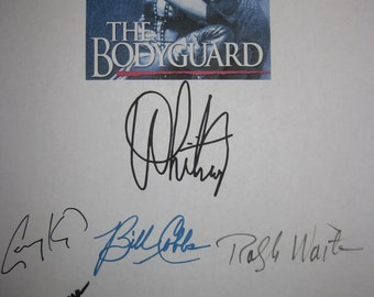 The Bodyguard Signed Film Movie Screenplay Script Autograph Whitney Houston Kevin Costner Robert Wuhl Gary Kemp Charles Keating Bill Cobbs