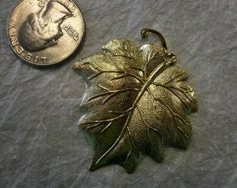 Vintage Large beautiful Brass Leaf (3)