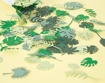 Jungle Party Confetti - Wedding Confetti - Tropical Party Decorations - Jungle Baby Shower - Jungle Birthday Party - Safari Party Supplies